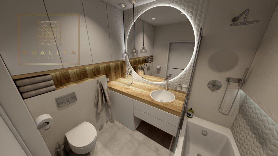Nowoczesny projekt wnętrza łazienki