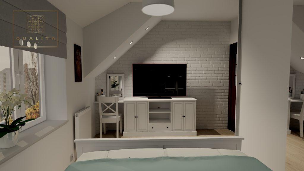 Qualita_Interno_projekt_nowoczesnej_sypialni_z meblami_Ikea_Hemnes