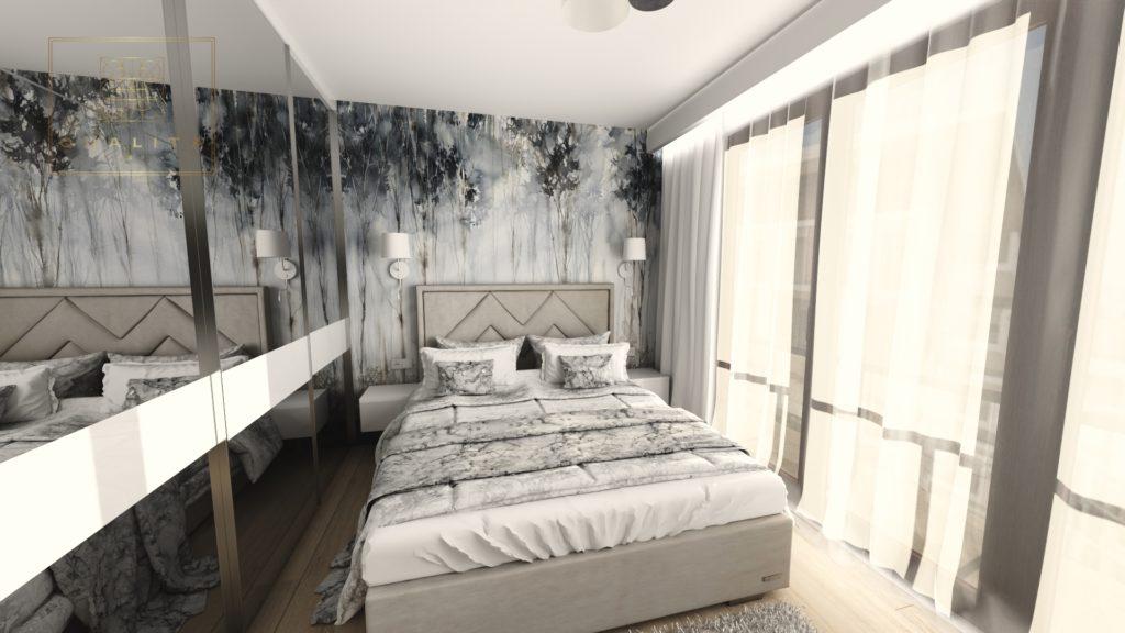 Qualita_Interno_trendy_sypialnie_2020_z_tapetą_wonder_wall_projektowanie_sypialni_online
