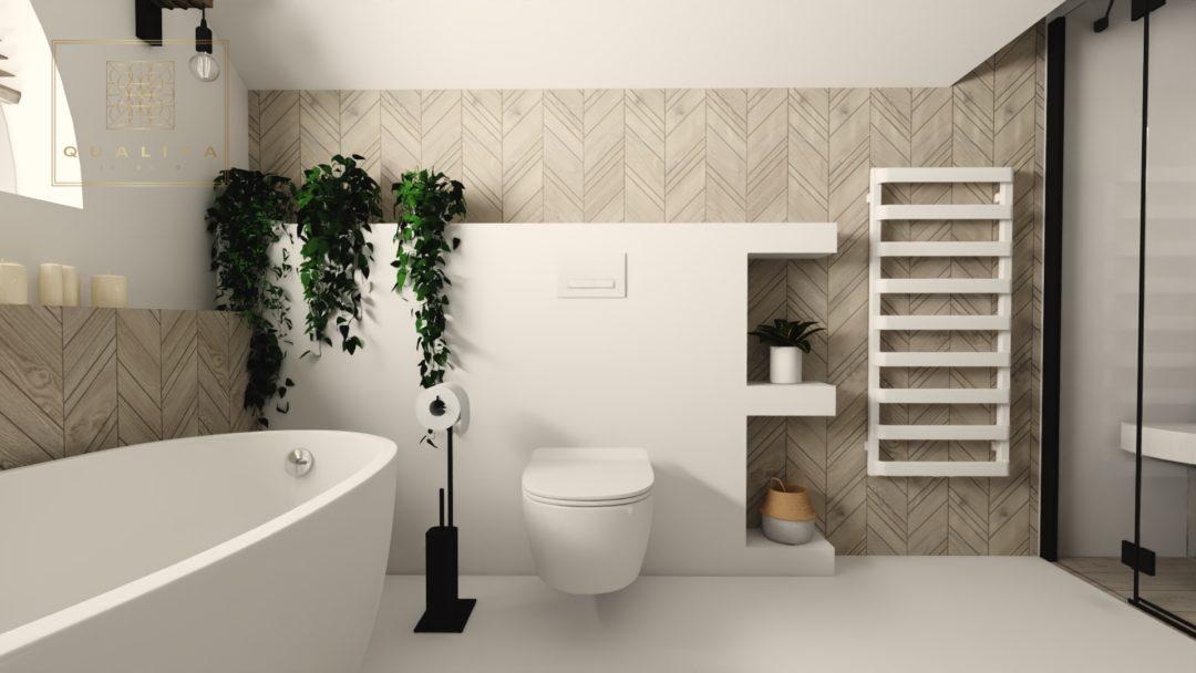 Qualita_Interno_łazienka_z_wanną_wolnostojąca_i_kabią_projekty_online