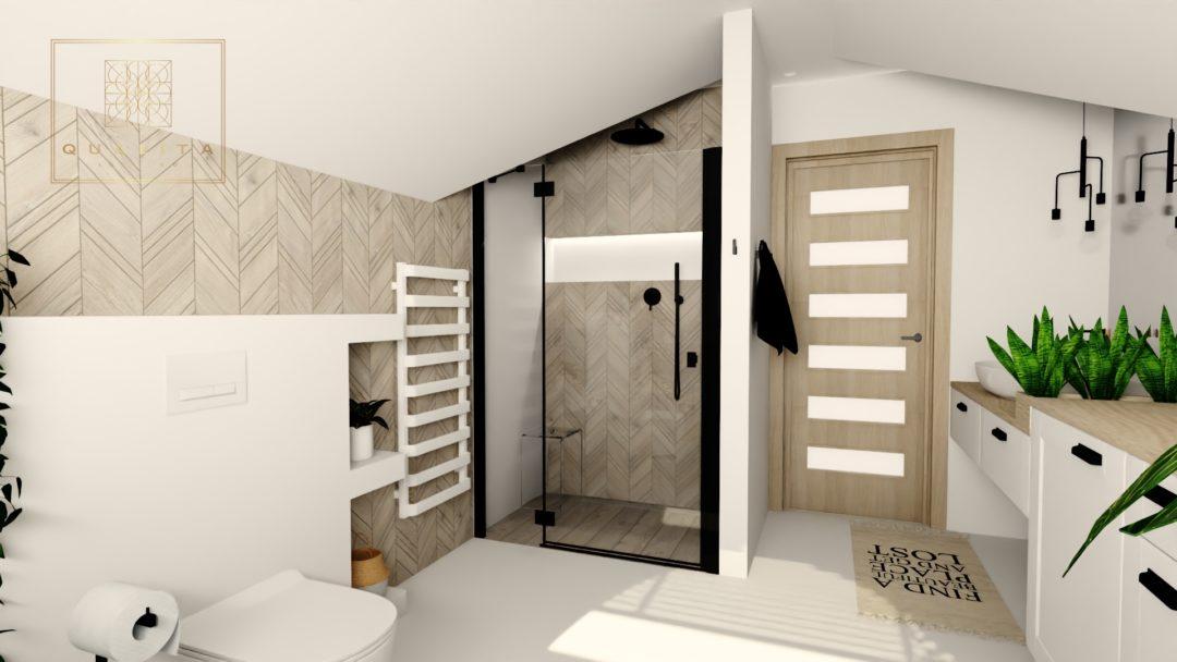 Qualita_Interno_łazienka_ze_skosami_z_jodełką_drewnianą