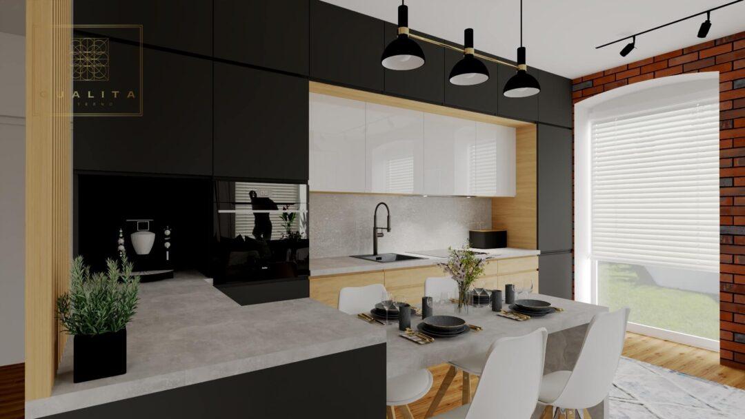 projekt mieszkania pod flipa