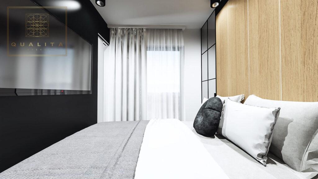 Qualita_Interno_aranżacje_projekty_małych_sypialni_w_apartamentach_nadmorskich