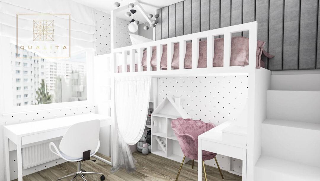 Qualita_Interno_pokój_dla_dziewczynki_z_łóżkiem_piętrowym