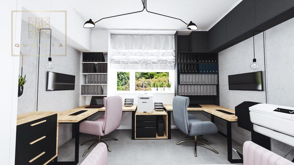 Qualita_Interno_projekt_aranżacja_biura_dla_dwóch_osób_w_domu_mieszkaniu