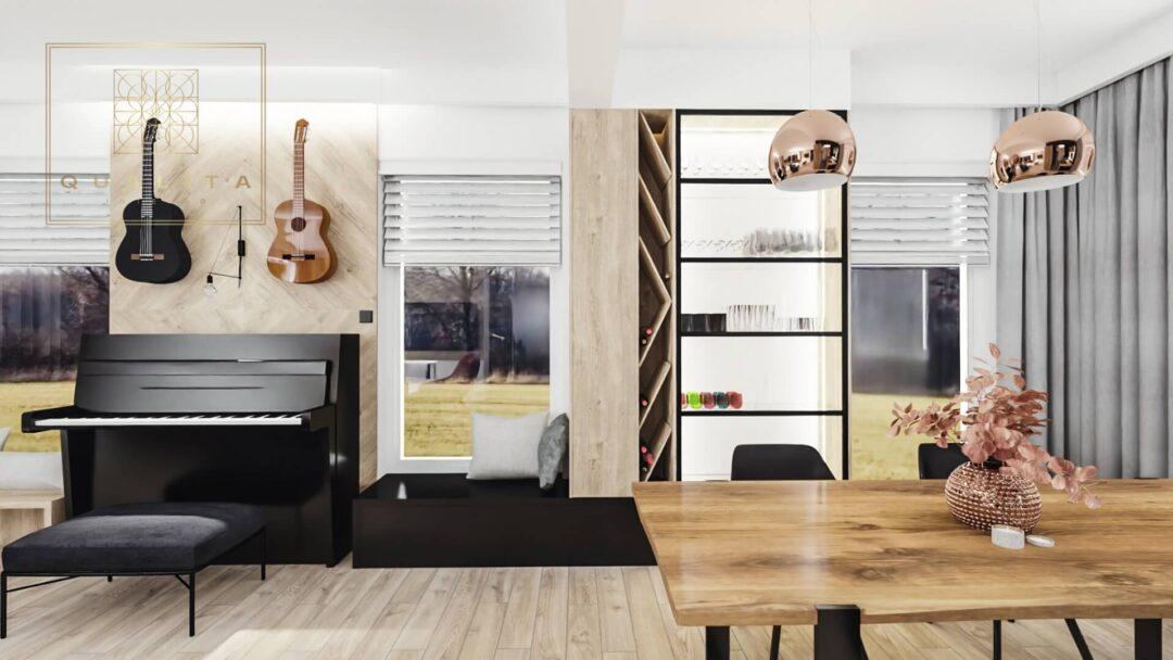 nowoczesna zabudowa w salonie