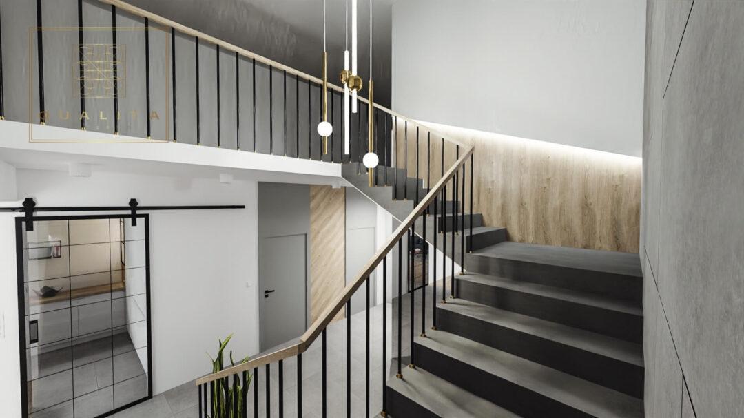 Nowoczesne projekty klatki schodowej