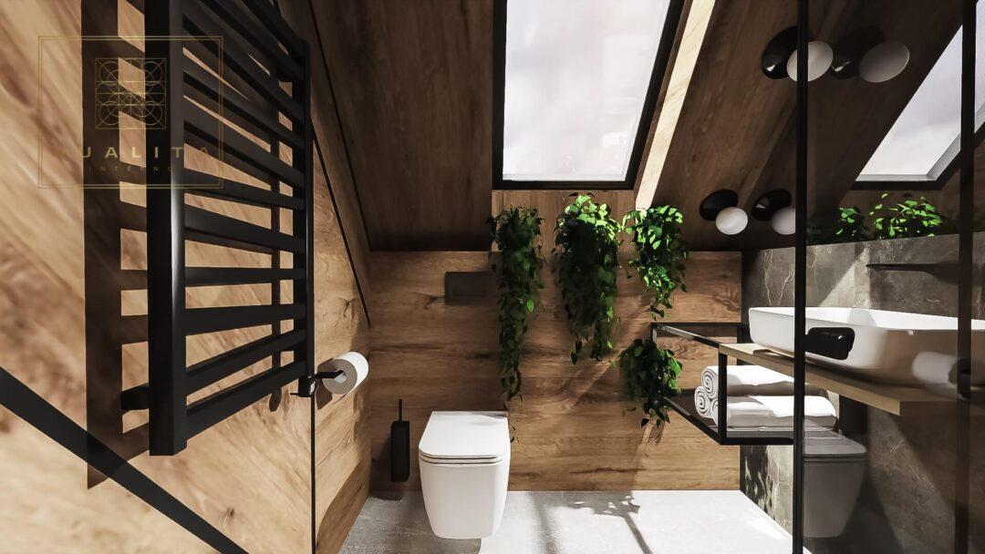 nowoczesny_projekt_małej_łazienki_na_poddaszu