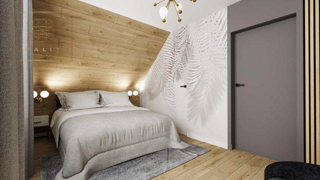 Qualita Interno jak urządzić sypialnię z łóżkiem pod skosem