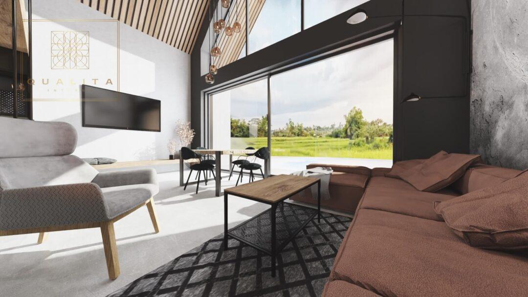 Qualita Interno nowoczesne projekty wnętrz domków letniskowych