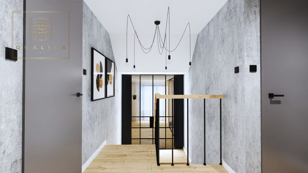Qualita Interno nowoczesne wizualizacje 3d klatek schodowych projektant wnętrz