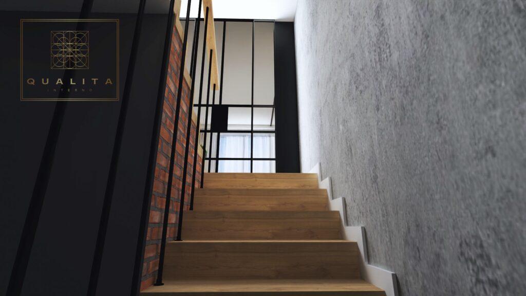 Qualita Interno nowoczesne wizualizacje 3d klatki schodowej Jak urządzić klatkę schodową zdjęcia