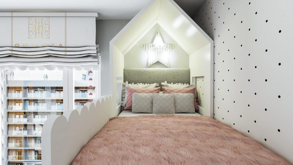Qualita Interno nowoczesny pokój dla 10 latki
