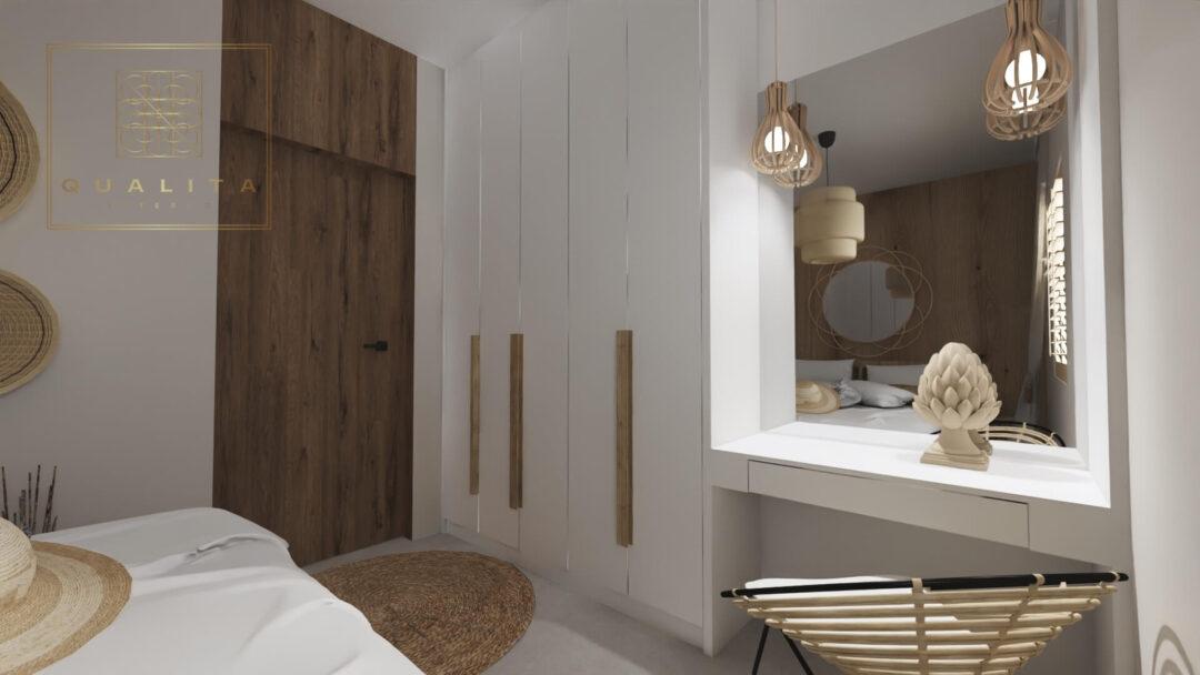 Qualita Interno sypialnia 10m2 aranżacje projekty inspiracje