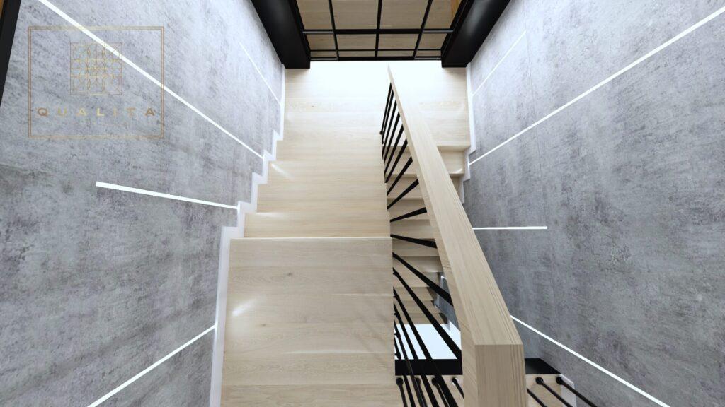 Qualita Nowoczesne ośiwetlenei klatki schodowej Projekty wnętrz