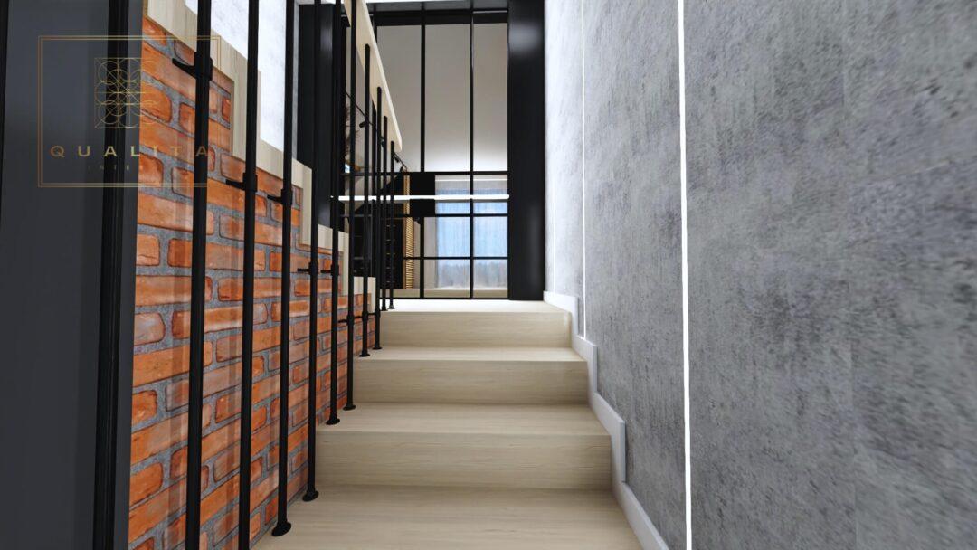 Qualita Nowoczesne profile LED oświetlenie klatki schodowej
