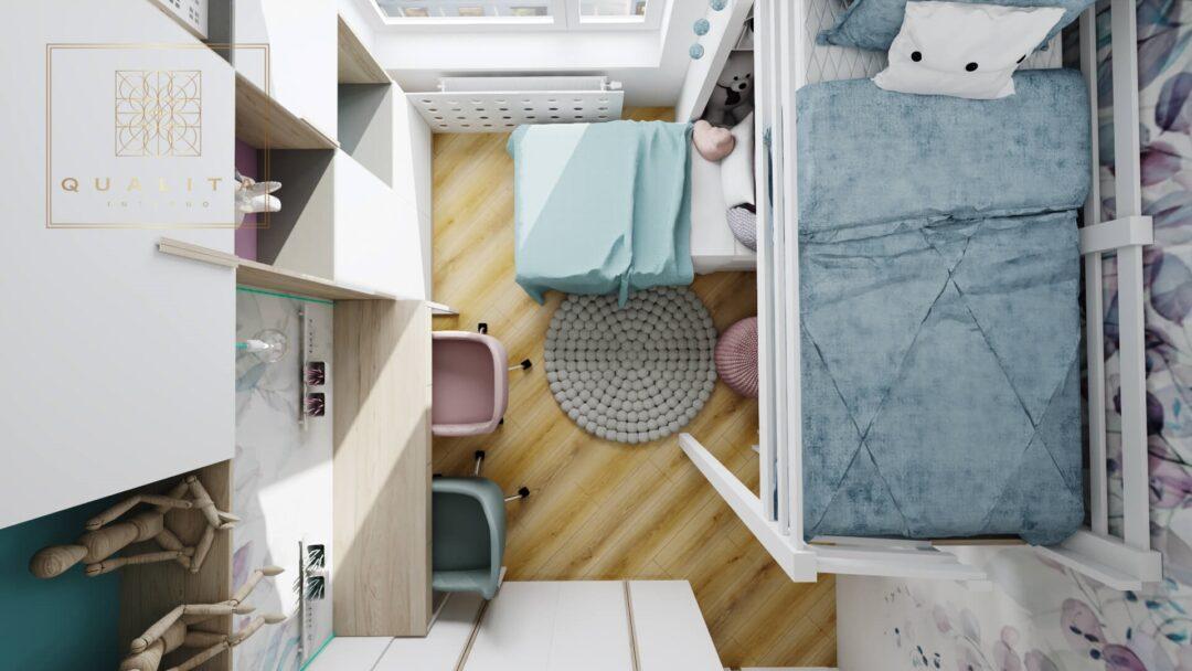 Qualita_Interno_projektowanie_pokoi_dziecięcych_online_nowoczesny pokój dla córki 8lat