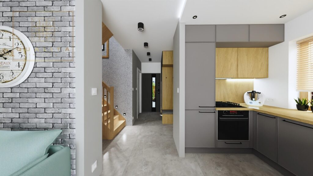 Projekt i aranżacja wnętrza domu do 70m2