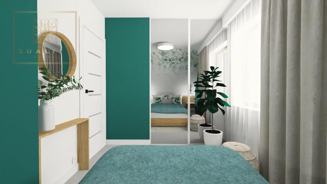 Qualita_Interno_projekty_modne trendy farby do sypialni - secret garden
